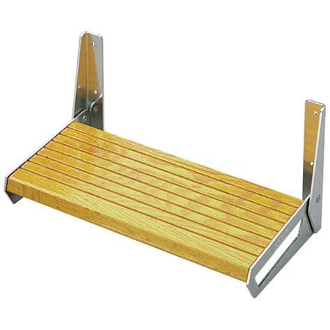 folding boat footrest garelick fold up footrests west marine