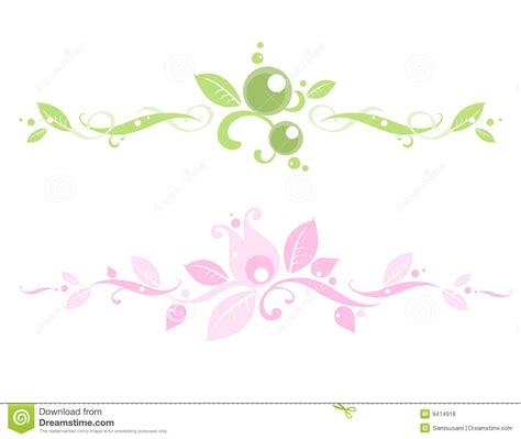floral headers royalty free stock photos image 9414918