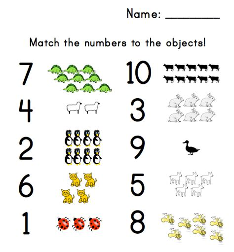 printable numbers with objects number worksheets for preschool kiddo shelter
