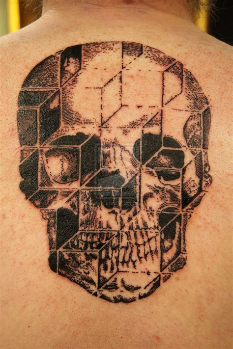 3d skull tattoo by shadowkult on deviantart