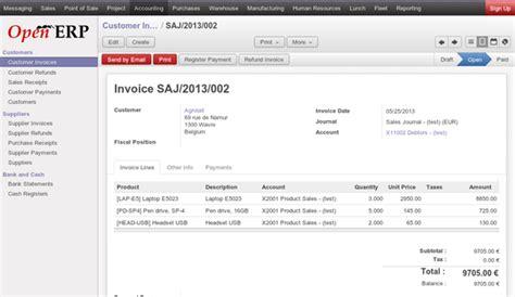 openerp design invoice online billing odoo apps