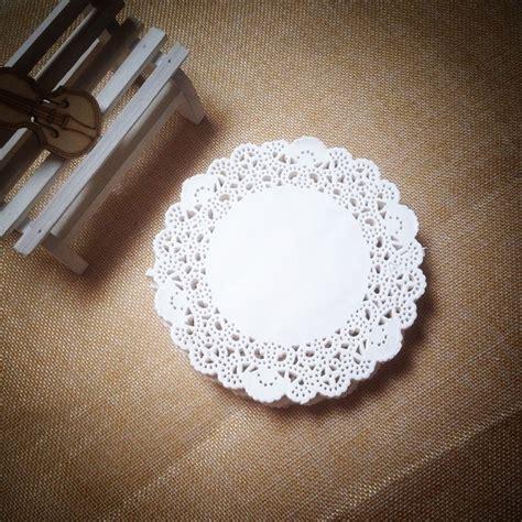 Paper Doyleys 4 5 new arrival 200pcs 4 quot 115mm white lace paper doilies doyleys vintage coasters placemat
