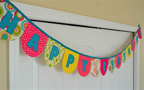 How To Make A Happy Birthday Banner Of Paper - birthday banner chirpy threads
