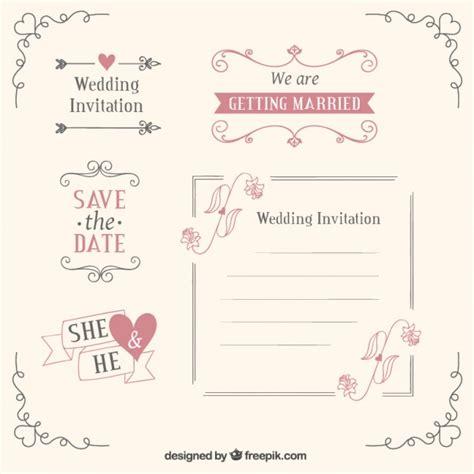 Kostenlose Vorlage Hochzeit Hochzeit Vorlagen Und Dekoration Der Kostenlosen Vektor