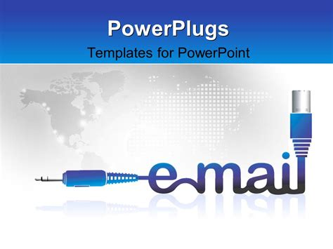 Powerpoint Template The Word Email With Map In The Background 11117 Powerplugs Templates