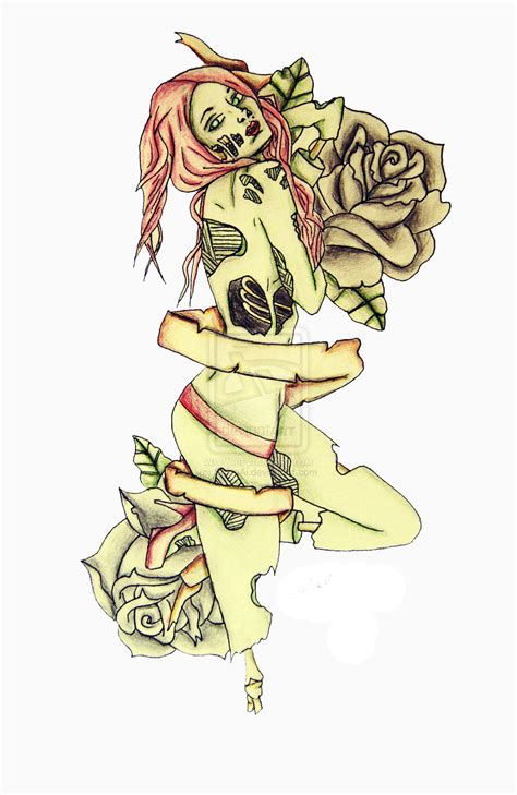 zombie pin up girl tattoos pinup by shioriai on deviantart