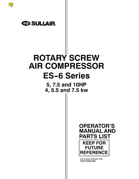 sullair compressor wiring diagram wiring diagram with