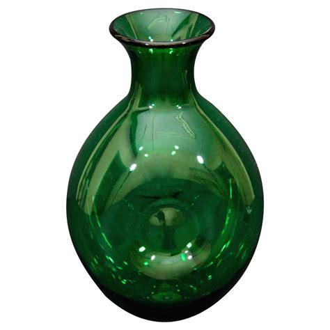 Blenko Glass Vase by Green Glass Vase By Quot Blenko Quot At 1stdibs