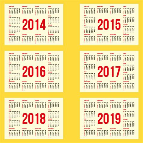 5 Year Calendar 2014 To 2018 Printable 5 Year Calendar 2015 2020 Breeds Picture