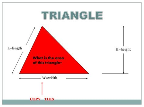 triangular one length with triangular area of a triangle and parallelogram