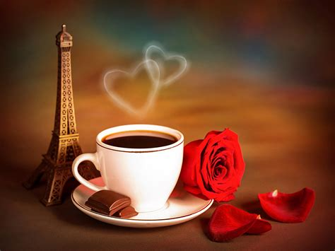 wallpaper coffee cup love wallpapers eiffel tower chocolate roses coffee flowers cup