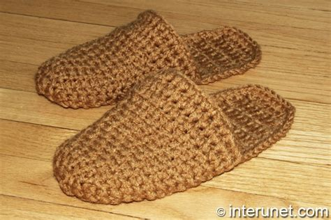 how to crochet house slippers how to crochet men s slippers crochet and knit
