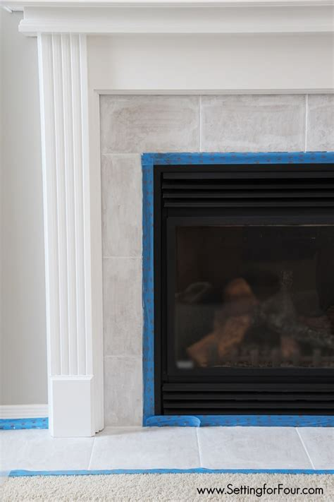 paint fireplace tile how to paint tile easy fireplace paint makeover