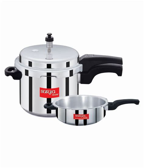 induction cooker accent 33 on surya accent popular 3 l pressure cooker induction bottom aluminium on flipkart