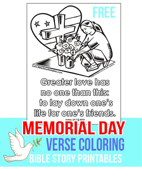 day sunday school lesson memorial day printables