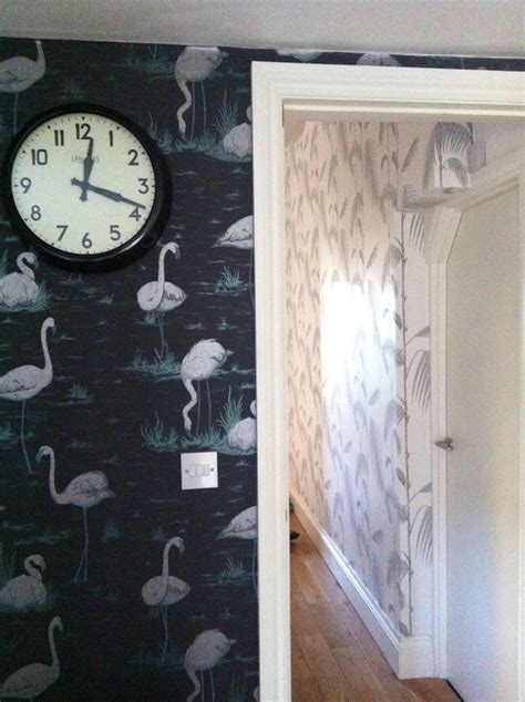 flamingo wallpaper cole and son cole and son flamingos and palm available from sally