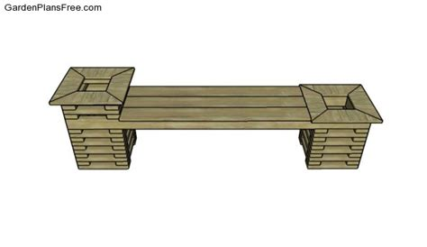 planting bench plans free outdoor bench plans free garden plans how to build garden projects