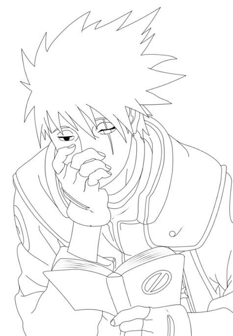 Sketsa gambar animasi naruto untuk diwarnai - Guru Kakashi