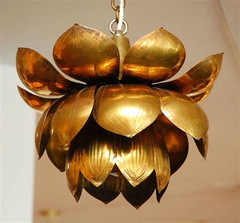 Lotus Flower Pendant Light Brass Light Pendant Look 4 Less And Steals And Deals