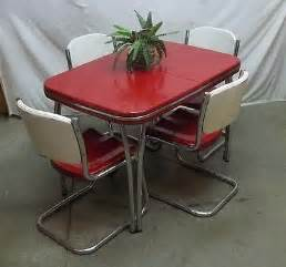 50 S Kitchen Table And Chairs 50s Chrome Dinette Set Hairstyles