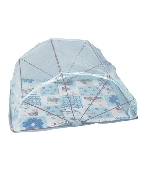 ans folding mosquito net for single bed blue buy ans