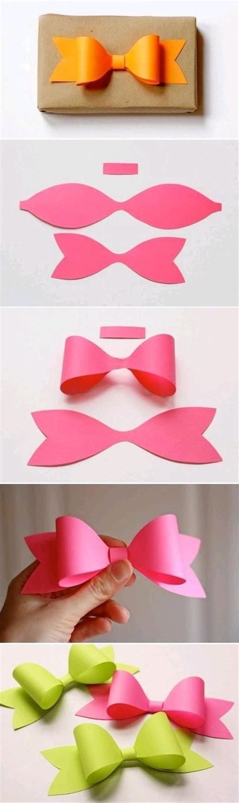 How To Make Bows Out Of Wrapping Paper - diy papierschleife f 252 r geschenke basteln paper bows