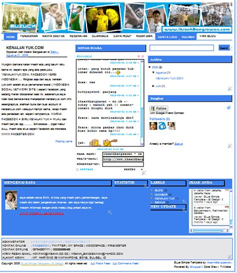 blogger republik template blogger free template blue simple republika