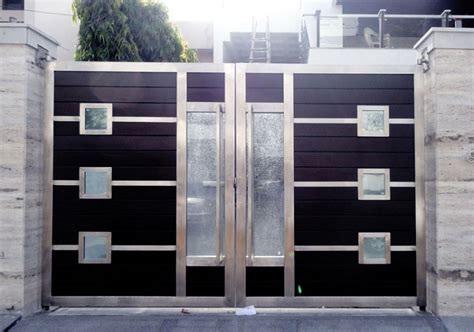 Entrance Door Design by Stainless Steel Main Entrance Gate Design For Modern Home