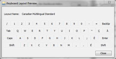 keyboard layout canadian multilingual standard windows typing pressing slash key quot quot produces accented