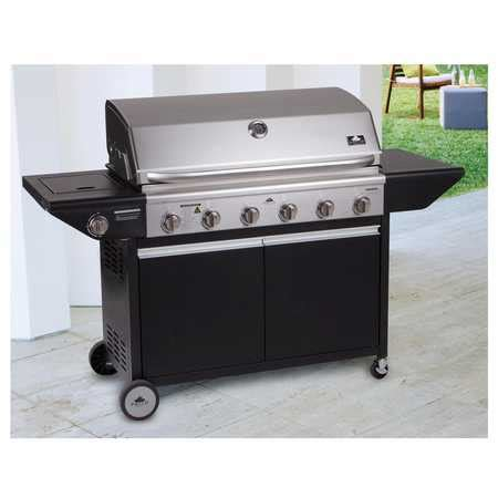 patio by durie garden gourmet 6 burner bbq big w