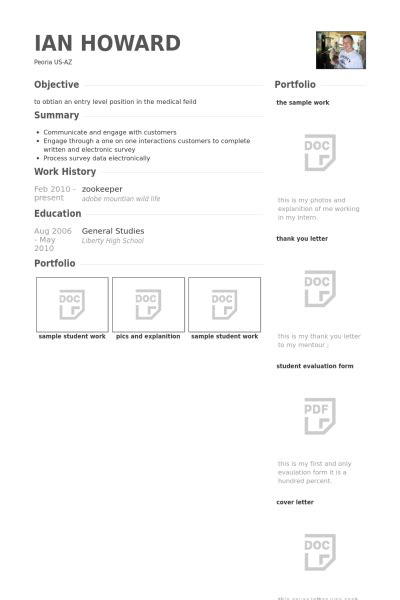Cover Letter For Zoo Keeper Resume Format Zookeeper Resume Template
