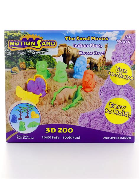 Motion Sand motion sand 3d sand box 3d zoo sand arts crafts