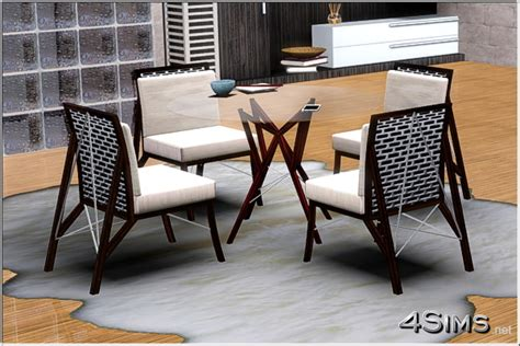 Round Rugs For Dining Room wire dining room glass table and chair for sims 3 4sims