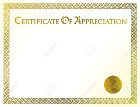 free editable certificate templates certificate of appreciation template free editable