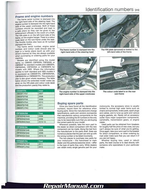 small engine service manuals 2009 honda element user handbook honda cb600f hornet cbf600 cbr600f 2007 2012 haynes repair manual
