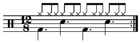 drum pattern triple time time signature