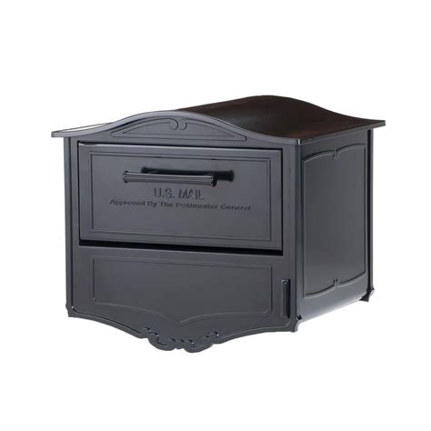 architectural mailboxes geneva black post mount locking