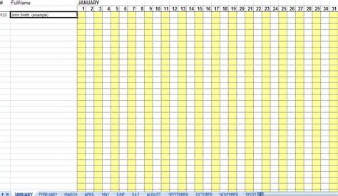 attendance sheet template excel excellent monthly attendance sheet template sle in