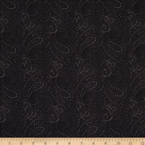 essentials 108 quot wide quilt backing paisley black