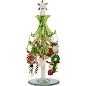 mini crystal christmas tree with 12 wine charm ornaments