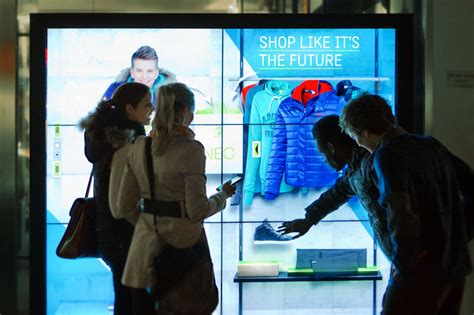 digital window videos lsn news smart touch adidas tests digital window shopping