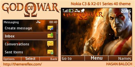 god themes nokia god of war theme for nokia c3 x2 01 themereflex