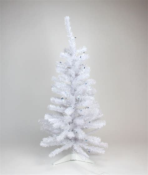 3 pre lit white iridescent pine artificial christmas tree