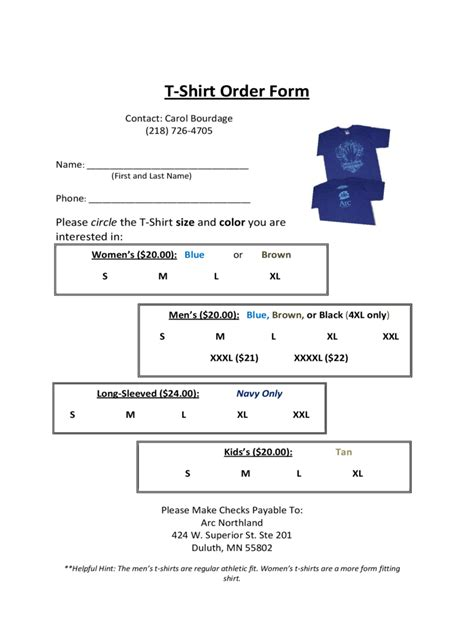 t shirt order form template free 2 t shirt order form 6 free templates in pdf word excel