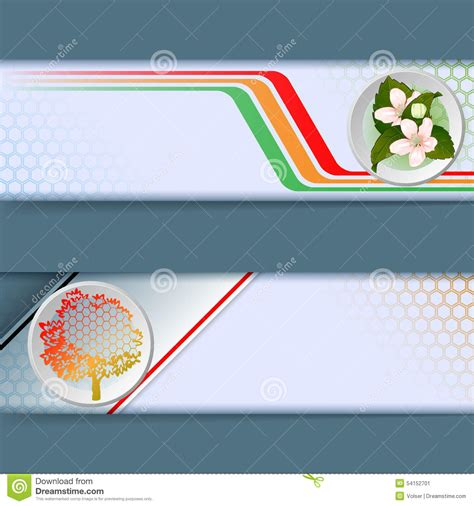 layout banner web set of banners with colorful linear design bouquet of