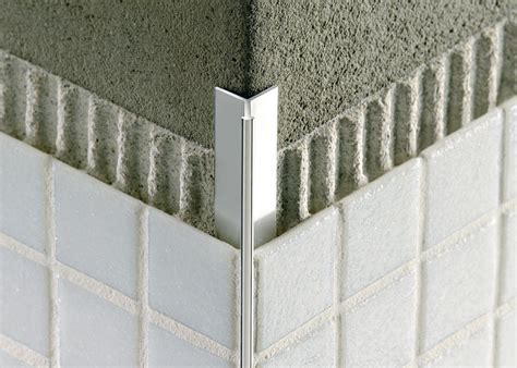 How To Cut Floor Tiles Around Corners by Tile Outside Corners Tile Edge Trim In Aluminium