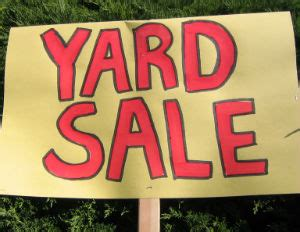 How To Run A Garage Sale by Yard Sale Tips How To Run A Successful One