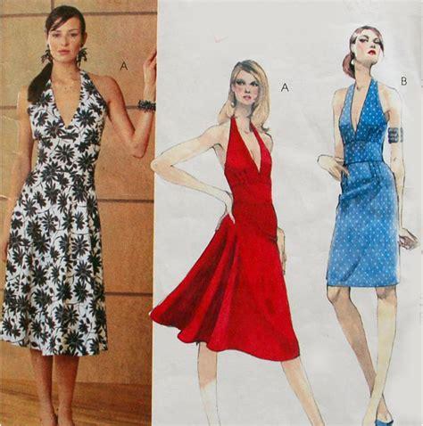 pattern halter dress misses halter dress patterns mccall s 3584 sizes