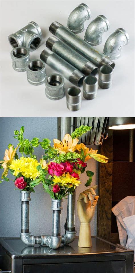 floreros galvanizados m 225 s de 25 ideas incre 237 bles sobre estantes de tubos en