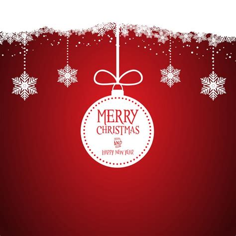 nice red background with a white christmas ball vector
